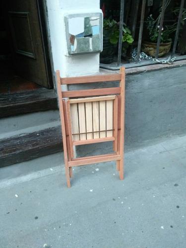 sillas plegables de madera eucaliptus colorado