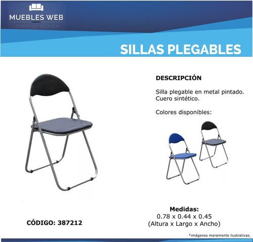 sillas plegables para mesa o jardin muy resistentes oferta