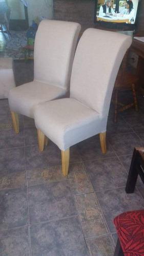 sillas tapizadas x 6