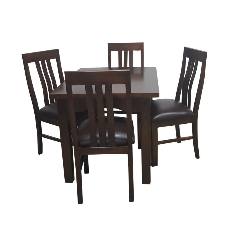 Sillas y mesa para cocina o comedor en madera maciza gh for Mesa cocina madera maciza
