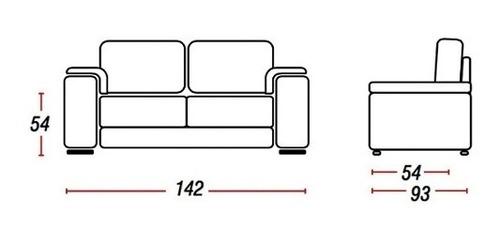 sillon 2 cuerpos sofa córdoba pu marrón