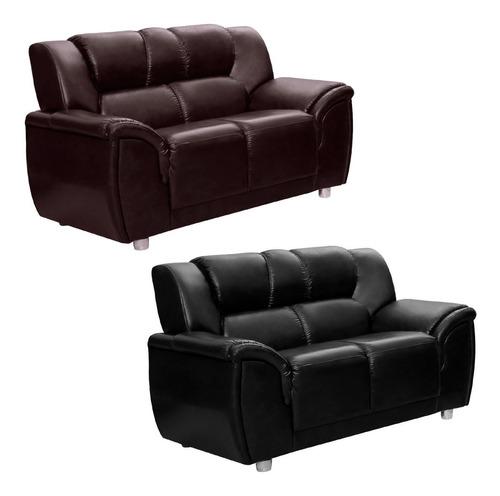 sillon 2 cuerpos sofa living córdoba pu negro