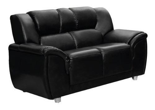 sillon 2 cuerpos sofa living pu negro córdoba