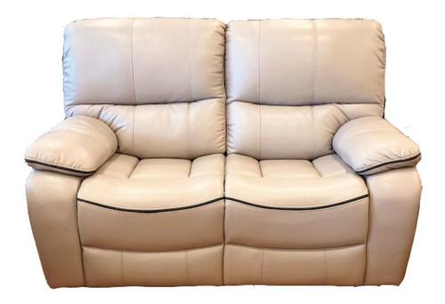 sillon 2 cuerpos sofa reclinable living comedor beige jon