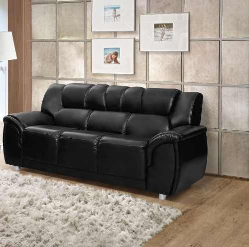 sillon 3 cuerpos sofa córdoba pu negro