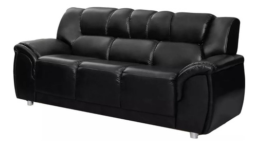 sillon 3 cuerpos sofa living córdoba pu negro amoblamientos