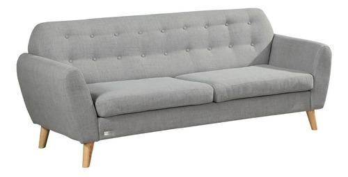 sillon 3 cuerpos tela nordico living comedor sofa