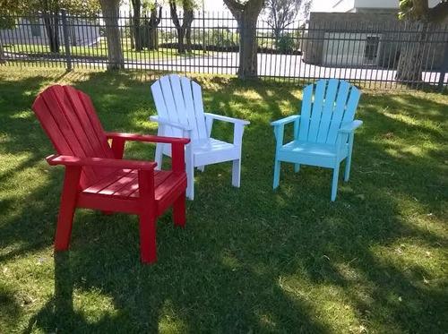 sillón adirondack, silla de jardín madera tratada.