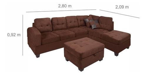 sillon esquinero puff sala sofa esquinero sillones divino