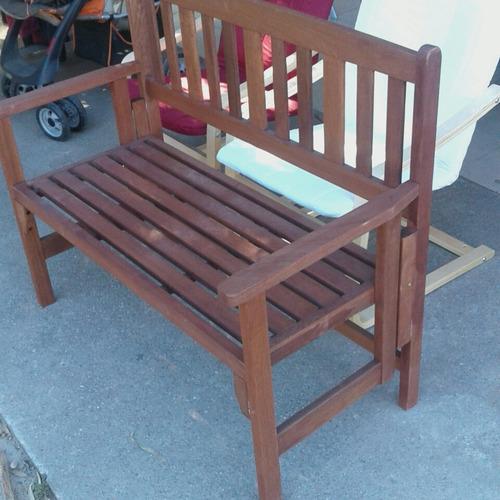 sillon madera teka plegable calidad nuevo sin uso