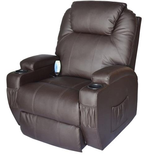 sillón reclinable masajeador 1 cuerpo sofá poltrona recliner