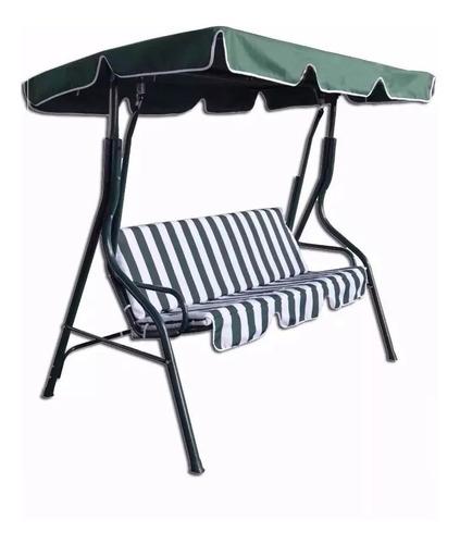 sillón silla 3 cuerpos hamaca de jardín exterior en caño lg