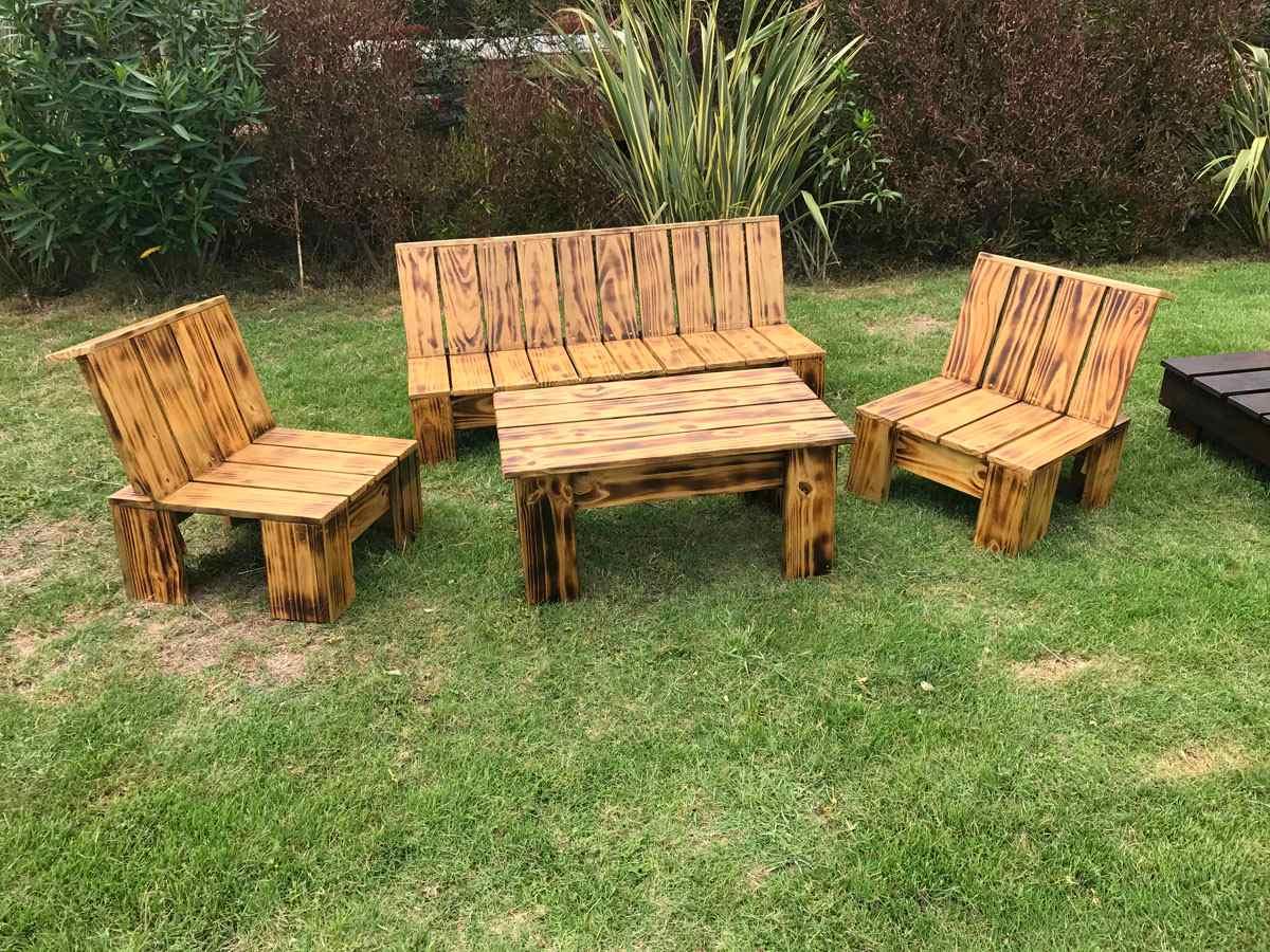 Sillones de jardin juego de madera para exterior interior - Maderas para jardin ...