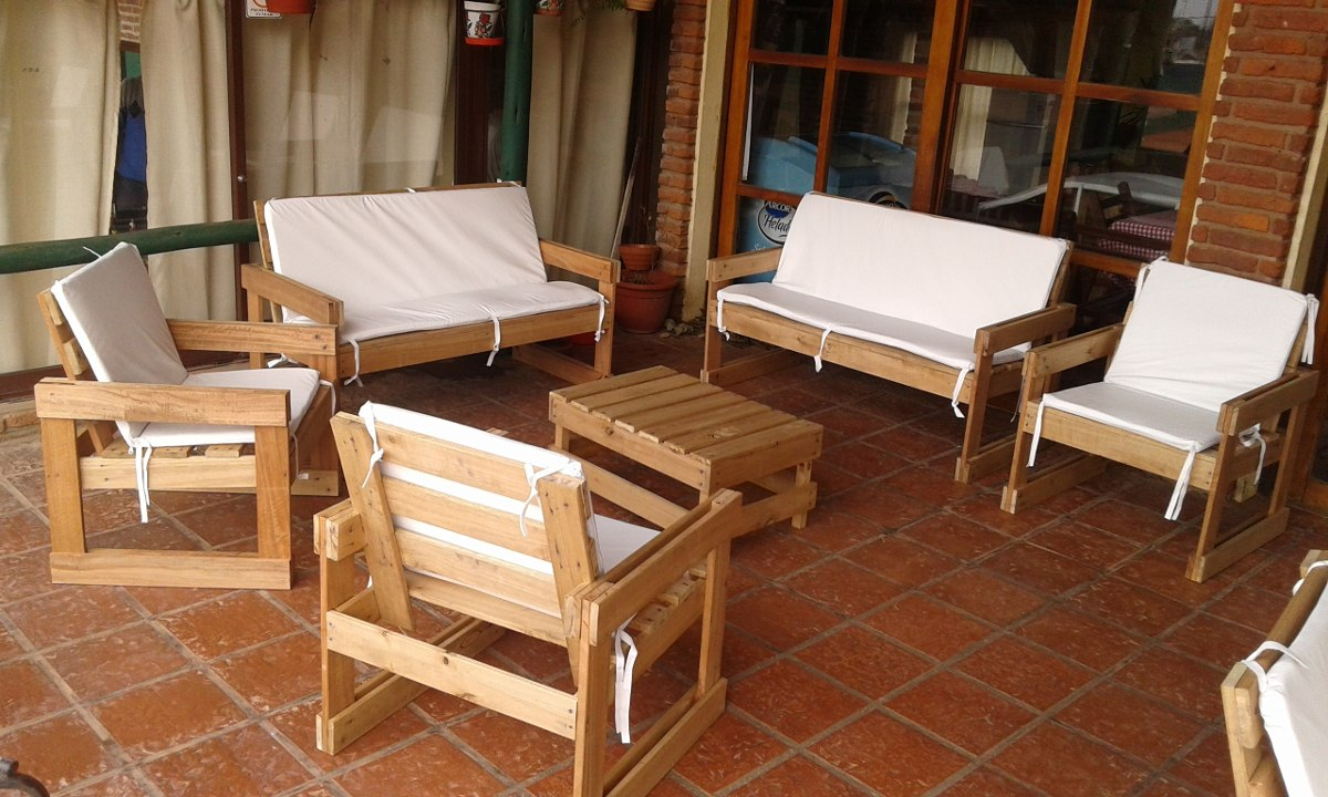 Sillones de madera maciza en mercado libre for Muebles madera maciza uruguay