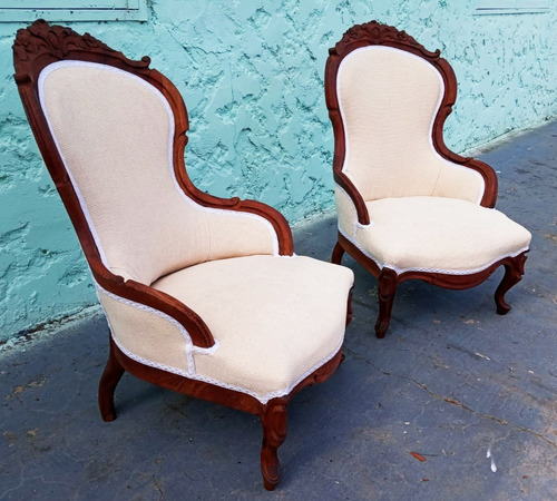 sillones estilo victorianos x 2