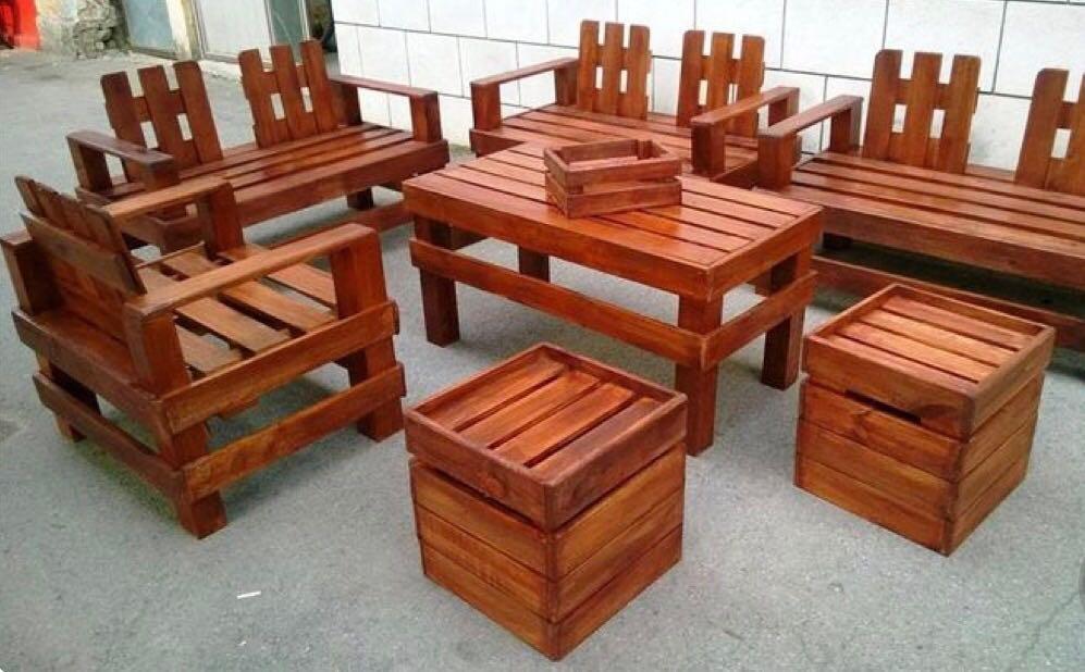 Sillones Rusticos Madera Palets 1600000 En Mercado Libre - Sillon-palets-madera