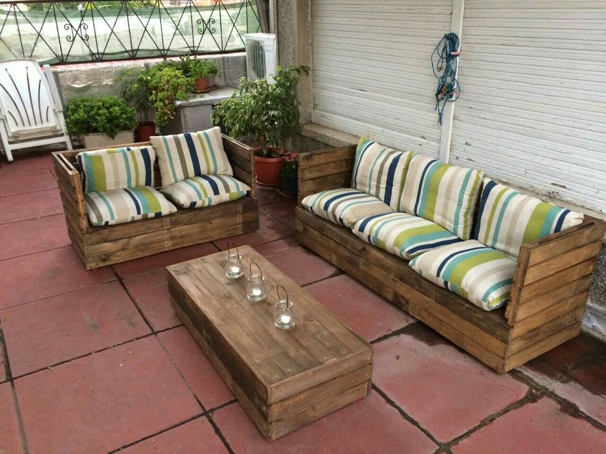 Sillones Sofas De Palet Pallet Palets Juegos Jardin - $ 6.900,00 en ...