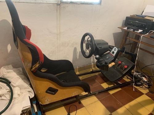 simulador de auto para pc, completo. logitech g27, sparco