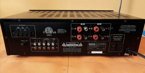 sintoamplificador teac ag780 100w rms por canal explosivo!!!