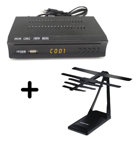 sintonizador de tv digital + antena interior super potente