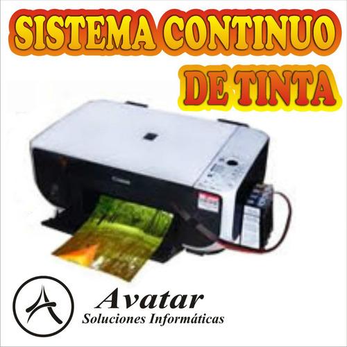 sistema continuo impresoras canon epson lexmark hp brother