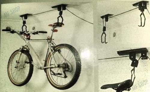Sistema Para Colgar Bicicletas Techo Garage Soporte Mf Shop 899 - Colgar-bici-techo
