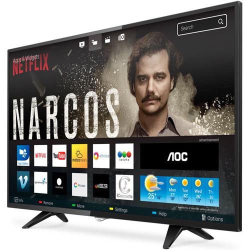 smart tv aoc 32' hd marco fino 2 años de garantía oferta loi