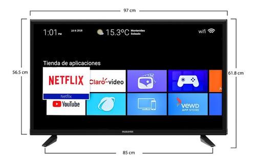 smart tv panavox 43 4k hdr bluetooth netflix wifi televisor