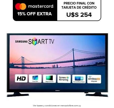 smart tv samsung 32' hd un32j4290 wifi hdmi usb oferta loi