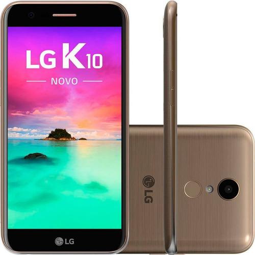smartphone lg k10 novo dourado 32gb 5,3  dual chip 13mp oct