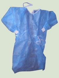 sobre túnica quirúrgica descartable - puño blanco elastizado