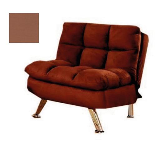 sofa cama 1 cuerpo living sofa reclinable chocolate z1757