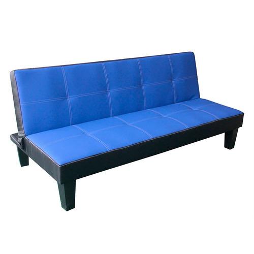 sofá cama empoli 2 plazas simil cuero doble costura en loi