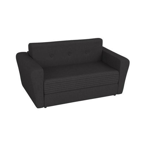 sofá cama hipnos 2 cuerpos en chenille negro - encontralo