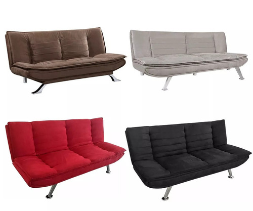 sofá cama rebatible muy elegante - futon