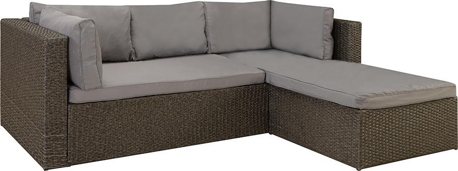Sofa Con Chaise Exterior Juego Rattan Jardin Divino - $ 15.210,00 en ...