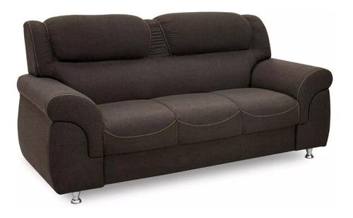 sofa living 3 cuerpos tapizado simil cuero o tela - malaga