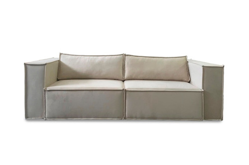 sofa retratil 3 lugares 2.40m - mod. los angeles - ( suede)
