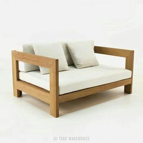 Sofas En Madera Con Almohadones 590000 En Mercado Libre - Sofas-de-madera