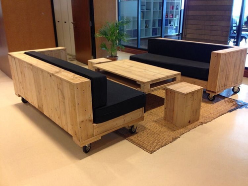 Sofas Sillones Rusticos De Madera 1550000 En Mercado Libre - Sofas-de-madera