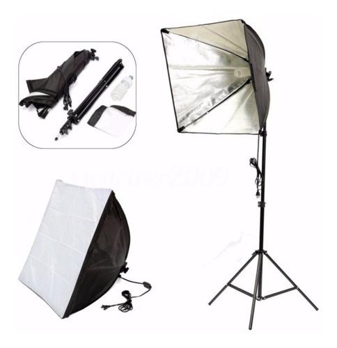 softbox luz continua fotografia video c/atril electroimporta