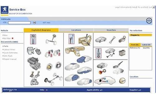 Software De Despiece Peugeot 307  2001