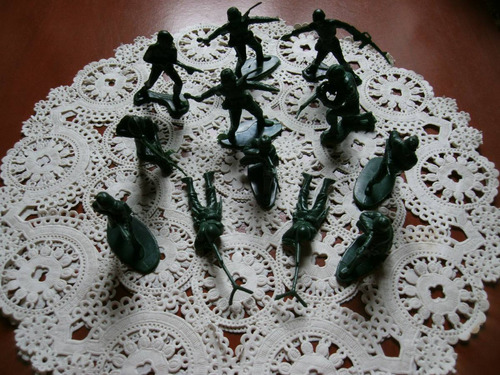 soldados plastico antiguo hong kong sellados. juguetes.