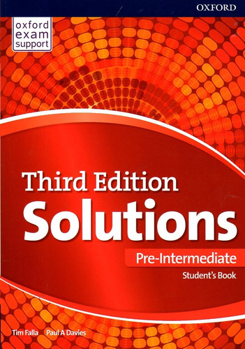 solutions pre intermediate / students book + workbook / 3 ed