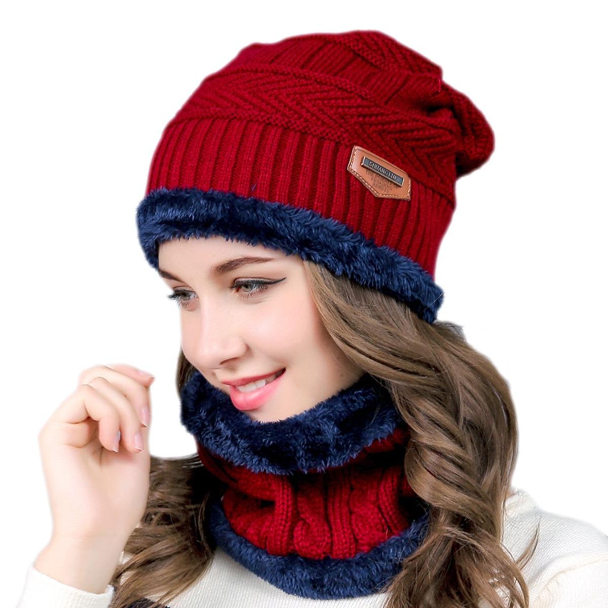 f0b678216 Sombrero De Punto De Invierno De 2 Piezas Y Bufanda Circu - U S 44 ...
