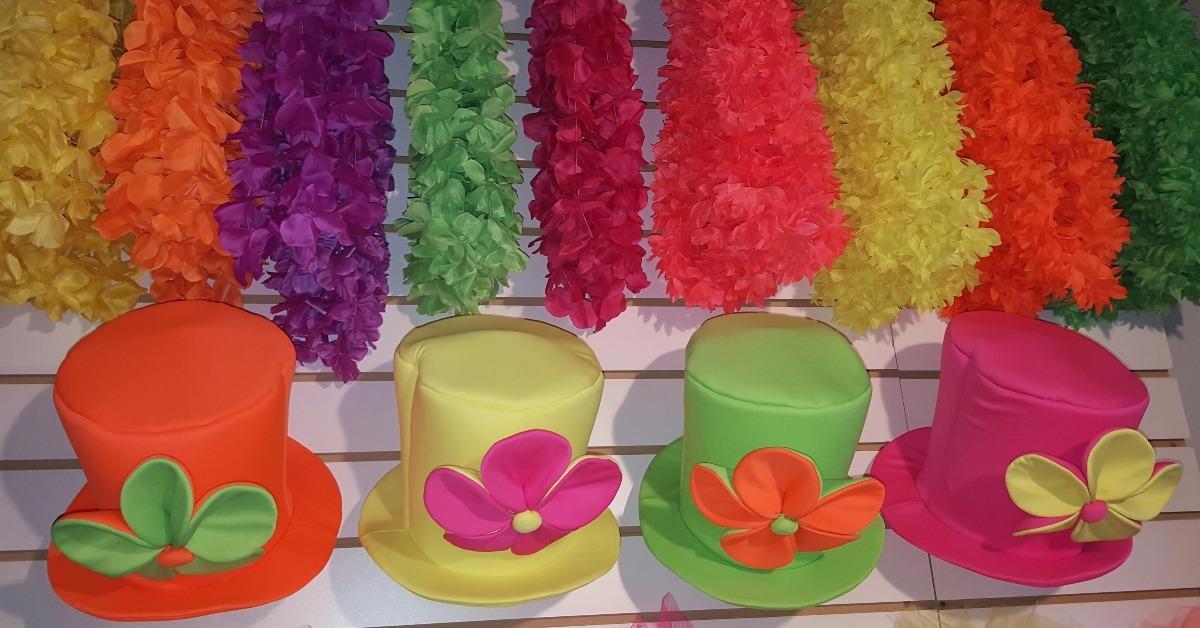 sombrero galera de tela fluo c  flor grande para quinceañera. Cargando zoom. 662066788c0