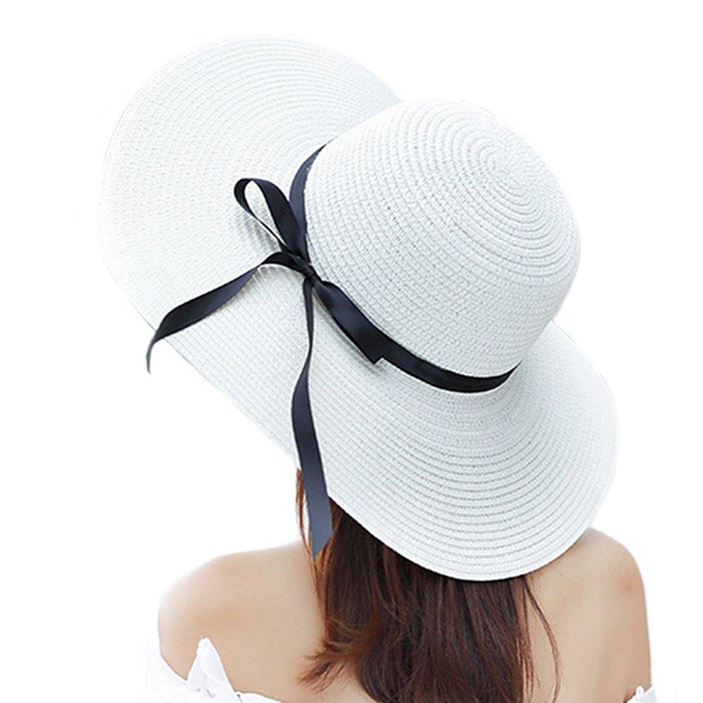 00a5d2817fc45 Itopfox Sombrero De Ala Grande Para Mujer Sombrero De Paj - U S 48 ...