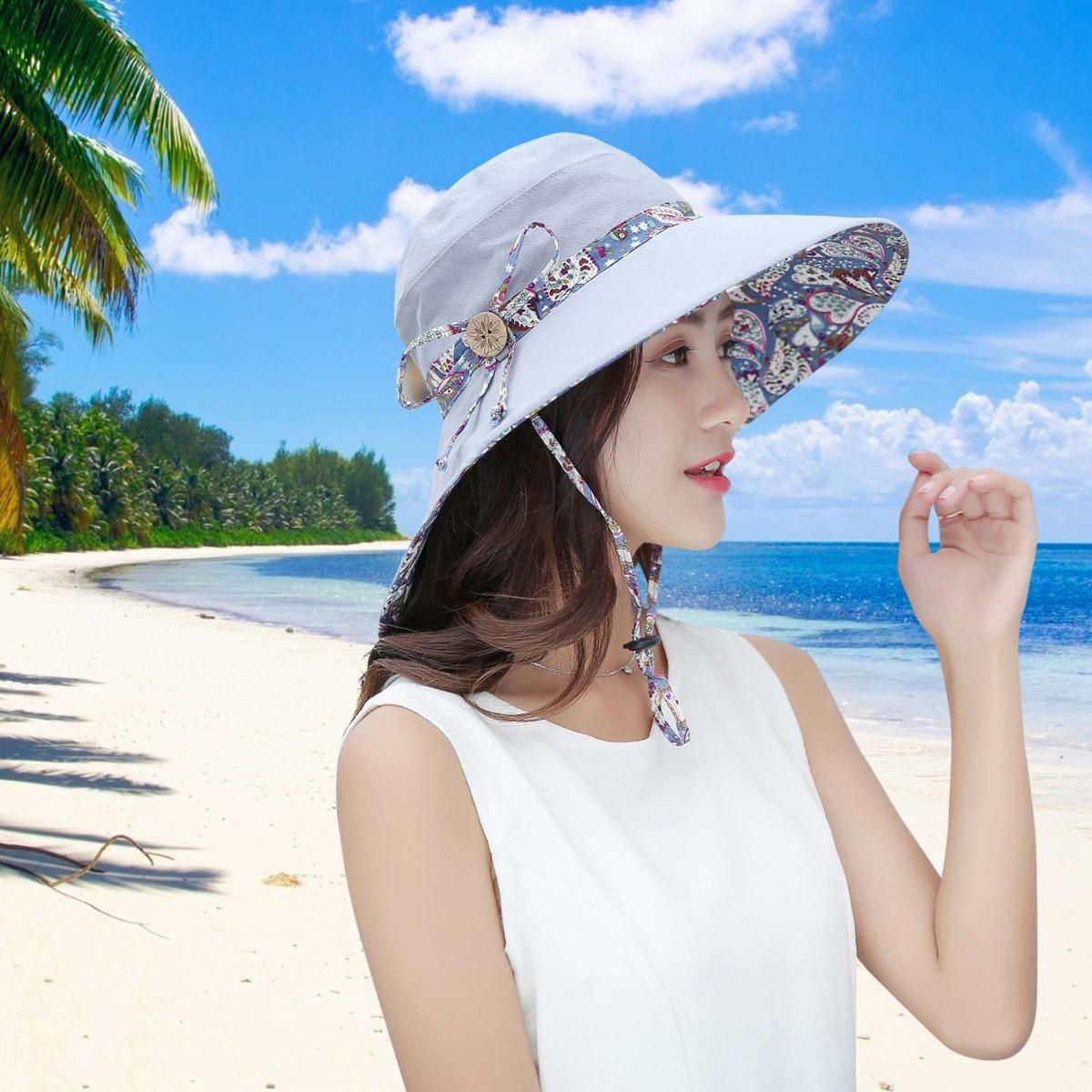 sombreros de sol para mujeres hindawi sombrero de playa d. Cargando zoom. 393a4cf0371