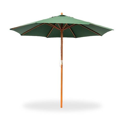 sombrillon de madera - 2,70 mts - color verde - big sale