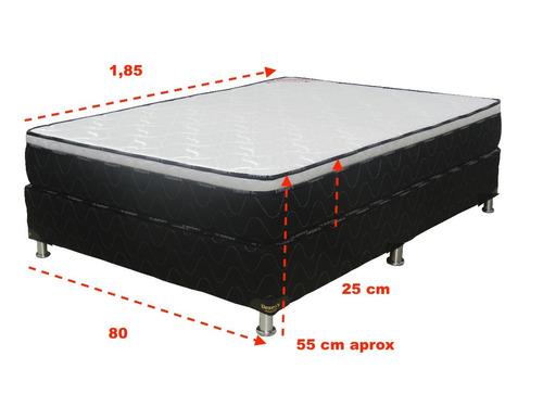 sommier 1 plaza espuma densidad 120 box con eurotop deseos